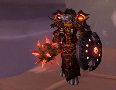 Mishaweha standing in Dalaran with Naxx-25 shaman gear