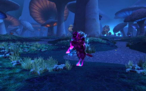 Mourninglory, in Zangarmarsh, colored a pink-purple.