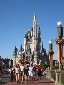 A picture of Cinderella's Castle in Disneyland.